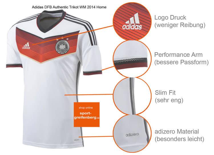 Das Adidas DFB Trikot Authentic WM 2014 als Ingame Trikot