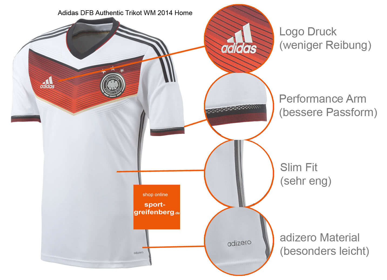 Adidas Deutschland Trikot 19 Mario Götze WM 2014 DFB Adizero