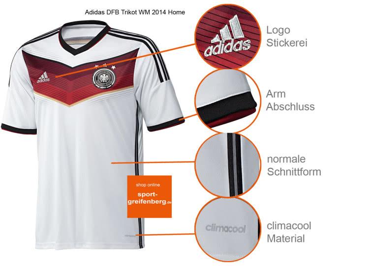 Das Adidas DFB Trikot WM 2014 Home als Fanartikel