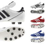 Adidas Kaiser 5 in weiß, blau und rot