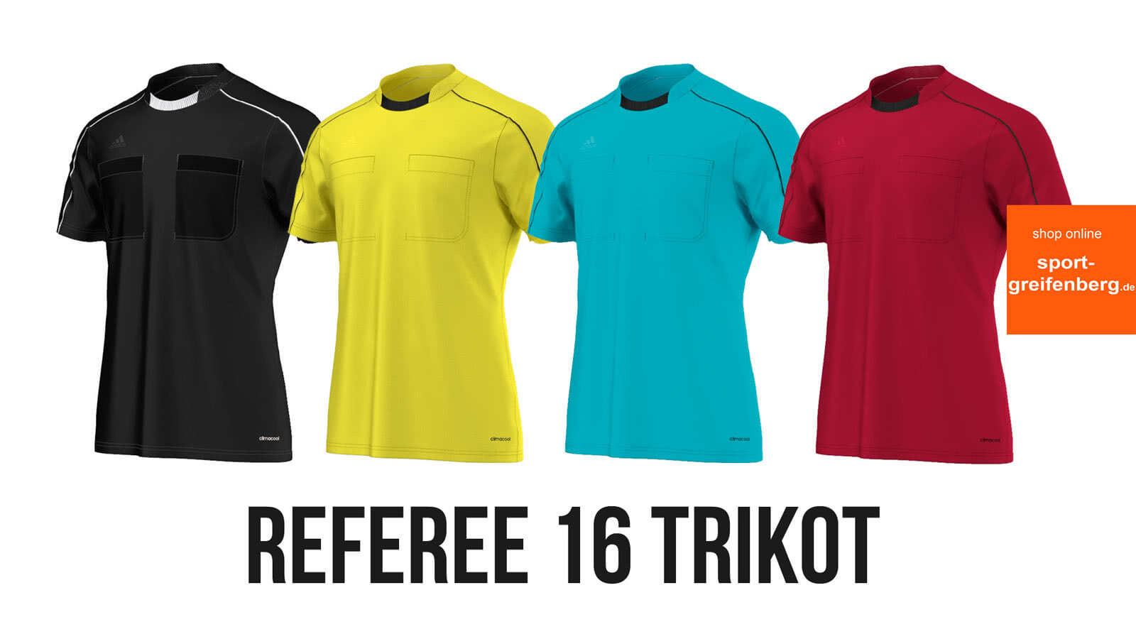 Das Adidas Referee 16 Trikot (4 Farben) als Schiedsrichter Trikot der EM 2016 und der Saison 2016/2017