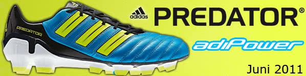 Die Adidas adiPower Predator Fußballschuhe im neuen Design. Adidas Predator für 2011/2012