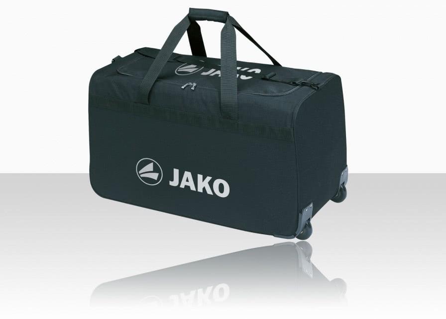 sporttasche mit rollen der jako team trolley sportartikel und fussballschuhe news. Black Bedroom Furniture Sets. Home Design Ideas