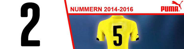 Die Puma Nummern für Trikots 2014-2016