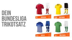 Bundesliga Trikotsätze von adidas, Nike sowie Puma und Co