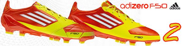 Die Adidas adiZero 2 F50 Fußballschuhe für den Highspeed Fußball bestellen