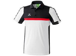 Das Erima 5-Cubes Poloshirt als Polyester Polo für den Sport