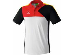Erima Premium One Poloshirt in den Farben weiß/schwarz/rot/gold der Deutschland Kollektion