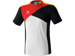 Das Erima Premium One T-Shirt der Deutschland Kollektion in weiß/schwarz/rot/gelb