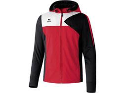 Die Erima Premium One Trainingsjacke mit Kapuze bestellen