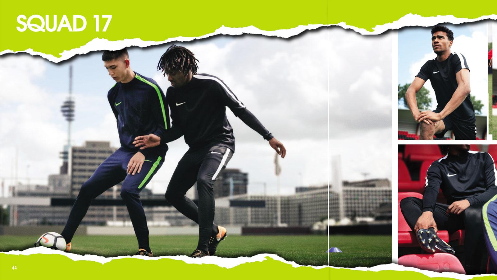 Nike Squad 17 Teamline als Trainingsbekleidung mit Trainingsanzug und Co.