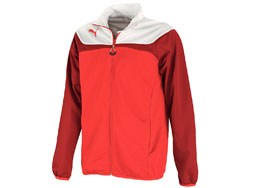 die Puma Esito 3 Polyesterjacke als Sportjacke zum Trainingsanzug