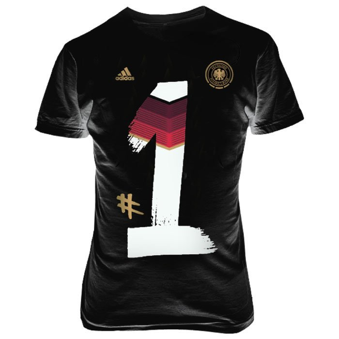 schwarzes Adidas DFB T-Shirt
