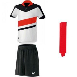 weiß/schwarz - schwarz - rot Farbe