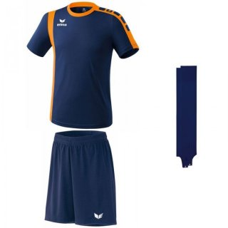new navy/neon orange - navy - navy Farbe