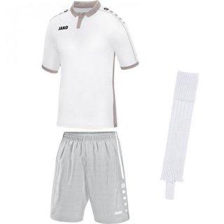 weiß - silbergrau - weiß Farbe