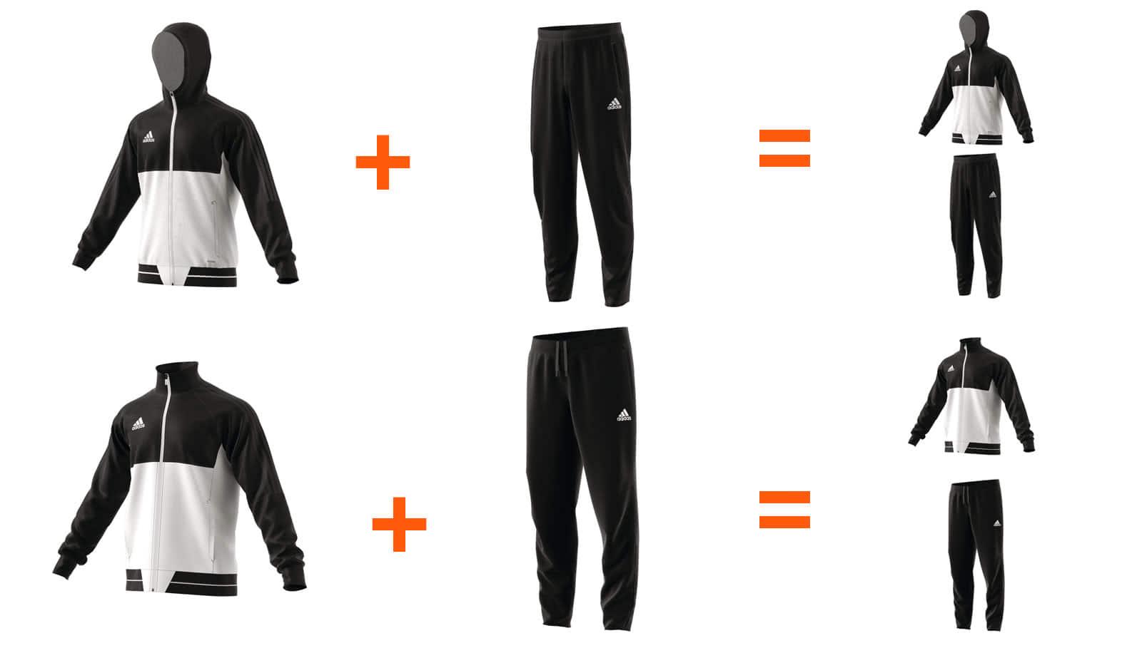 good out x best loved offer discounts Adidas Anzug aus einzelner ☆ Jacke + Hose