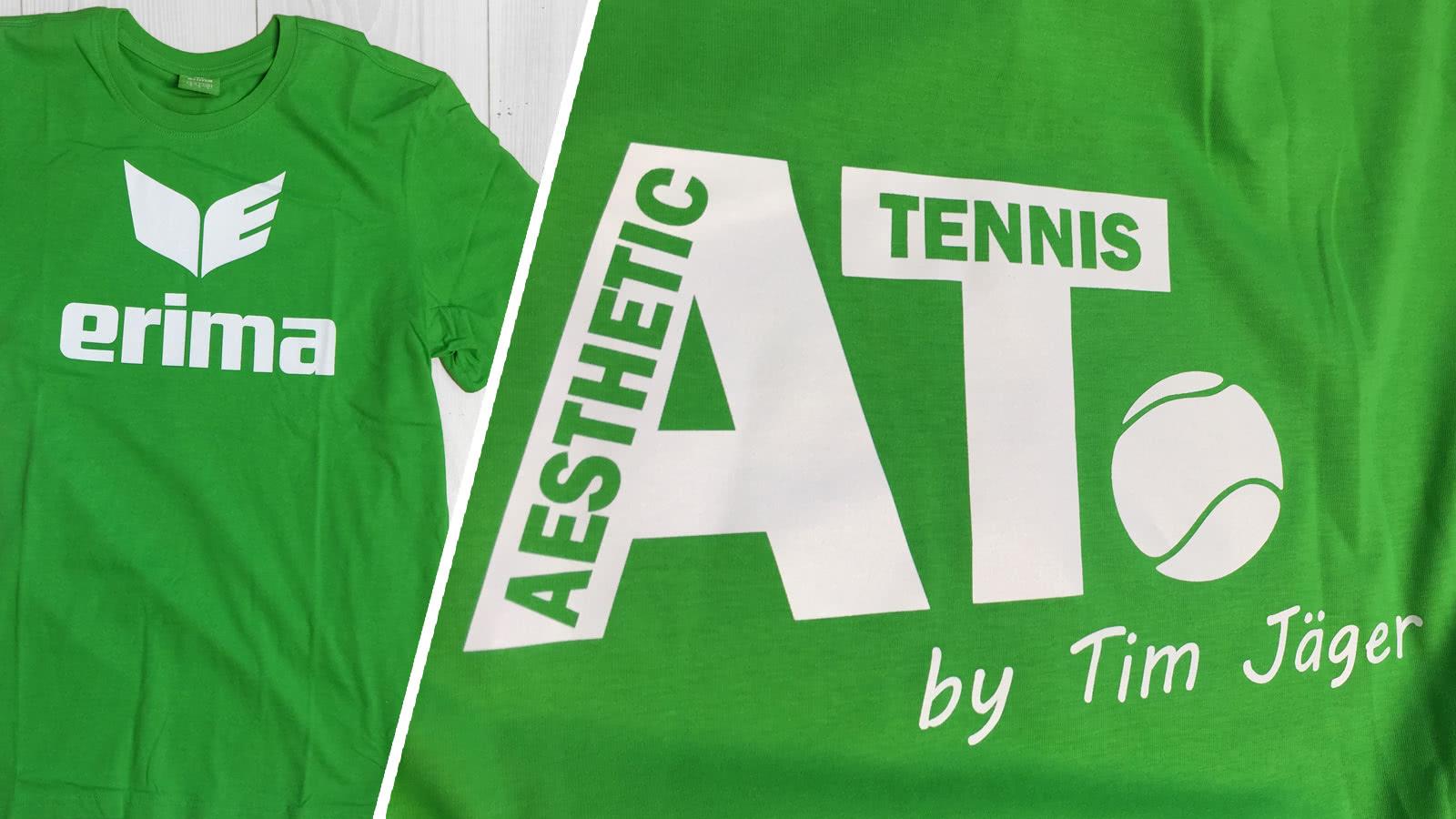 designer fashion f2bbc d160b Tennis T-Shirt mit eigenem Logo - Aesthetic Tennis ...