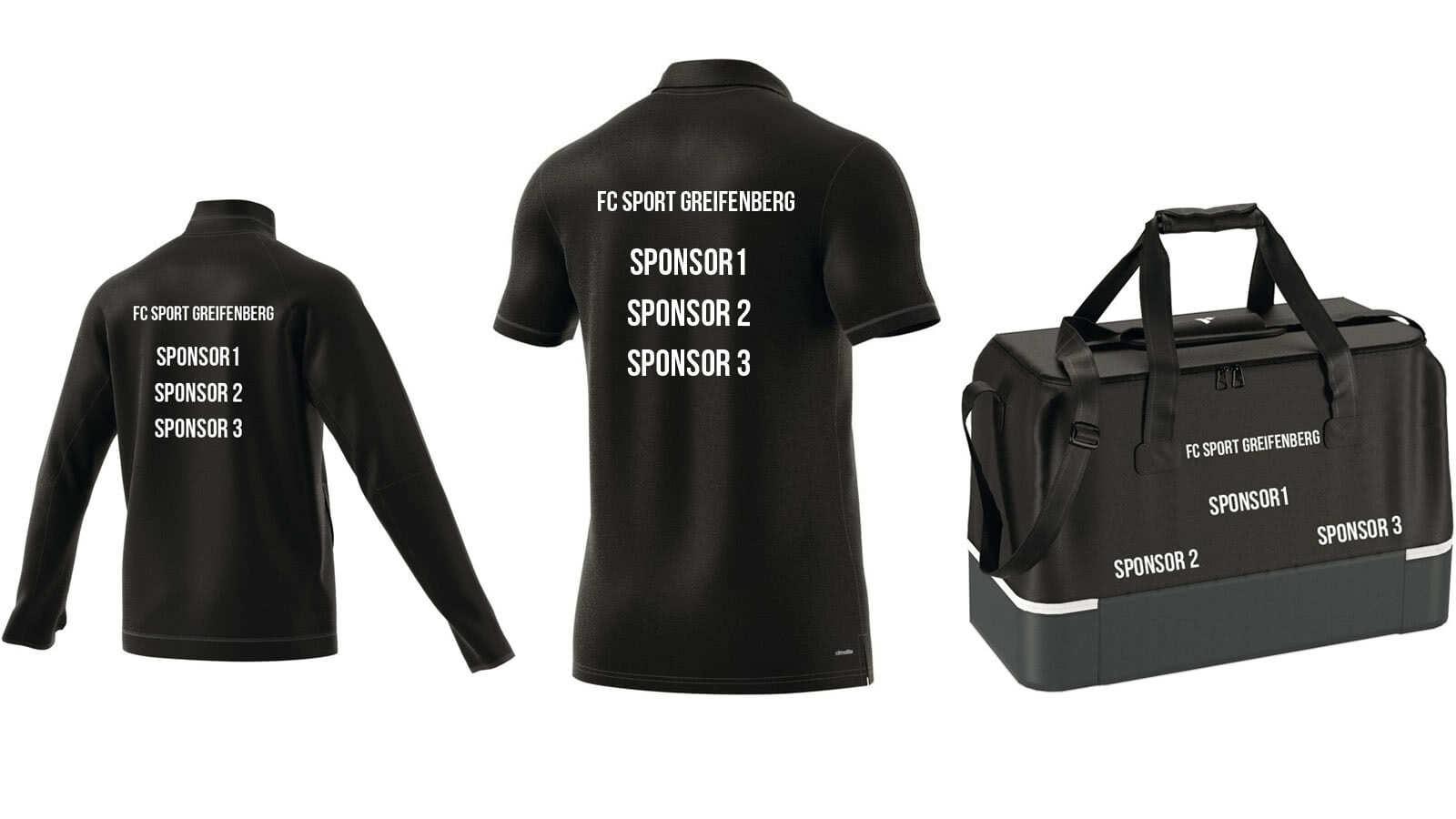 Der Sportartikel Druck mit mehr als einem Sponsor oder Werbung