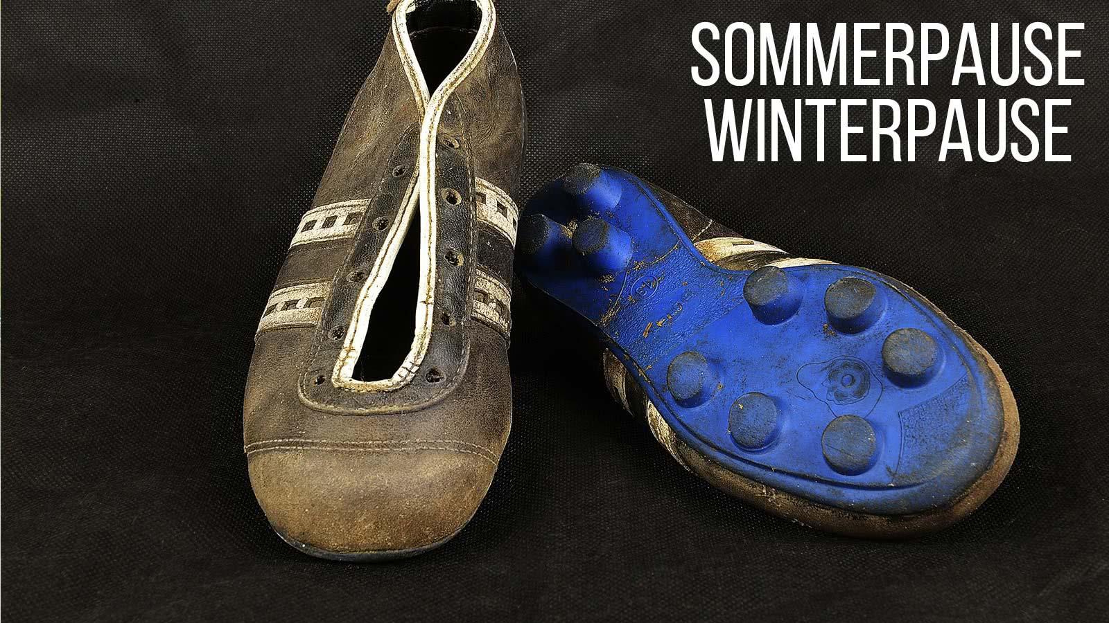 Fußballschuhe pflegen Sommerpause Winterpause