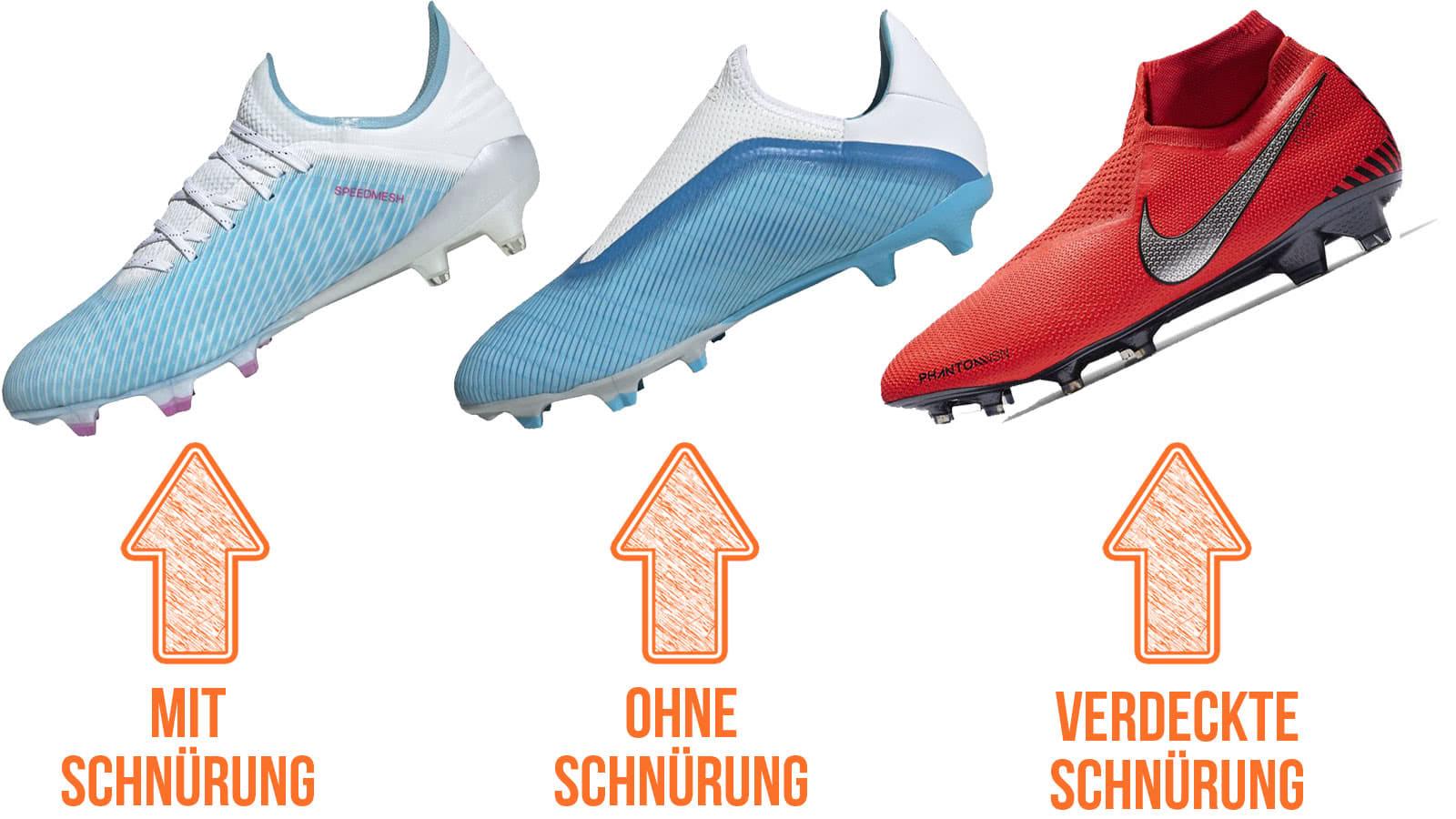 discount shop first rate best value Fußballschuhe ohne Schnürsenkel oder mit verdeckter ...