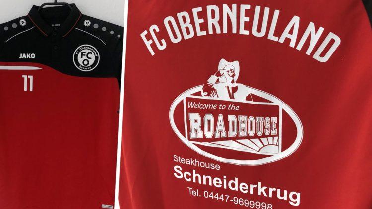 Die Jako Poloshirts mit Bedruckung des FC Oberneuland