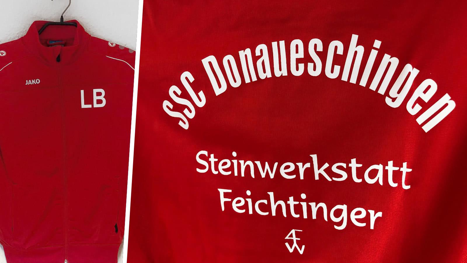 Die Jako Trainingsjacken mit Vereinsname und Sponsor