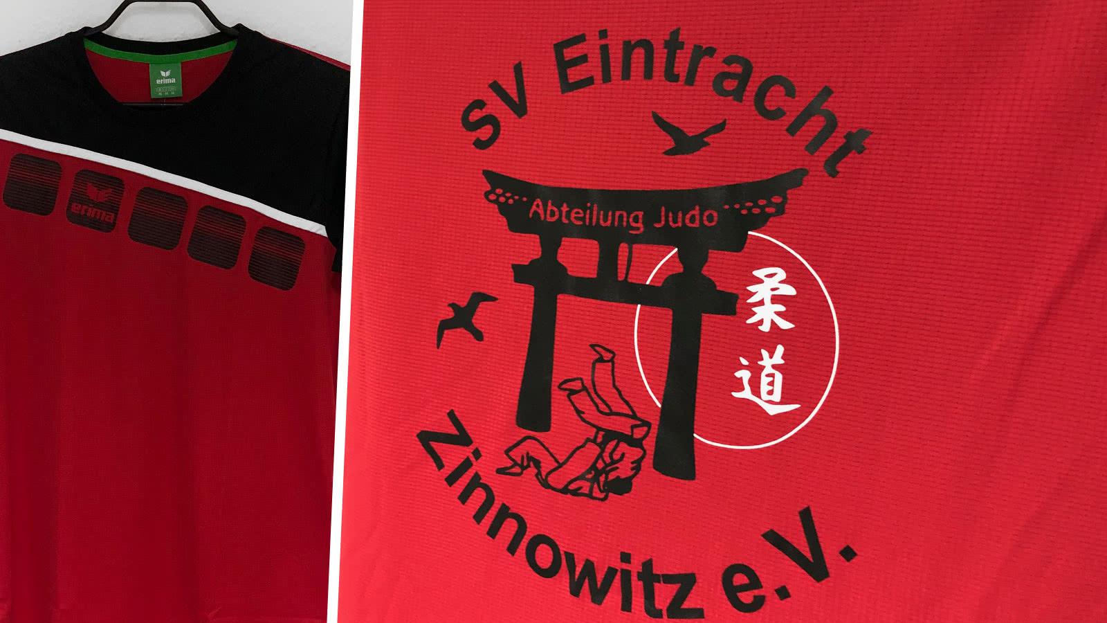 Die Judo T-Shirts des SV Eintracht Zinnowitz