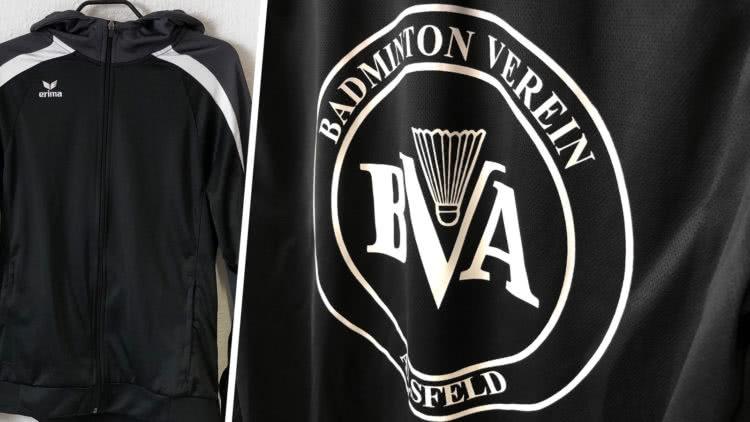 Kapuzenjacken mit Vereinslgo BVA Badminton Verein Alsfeld von Erima