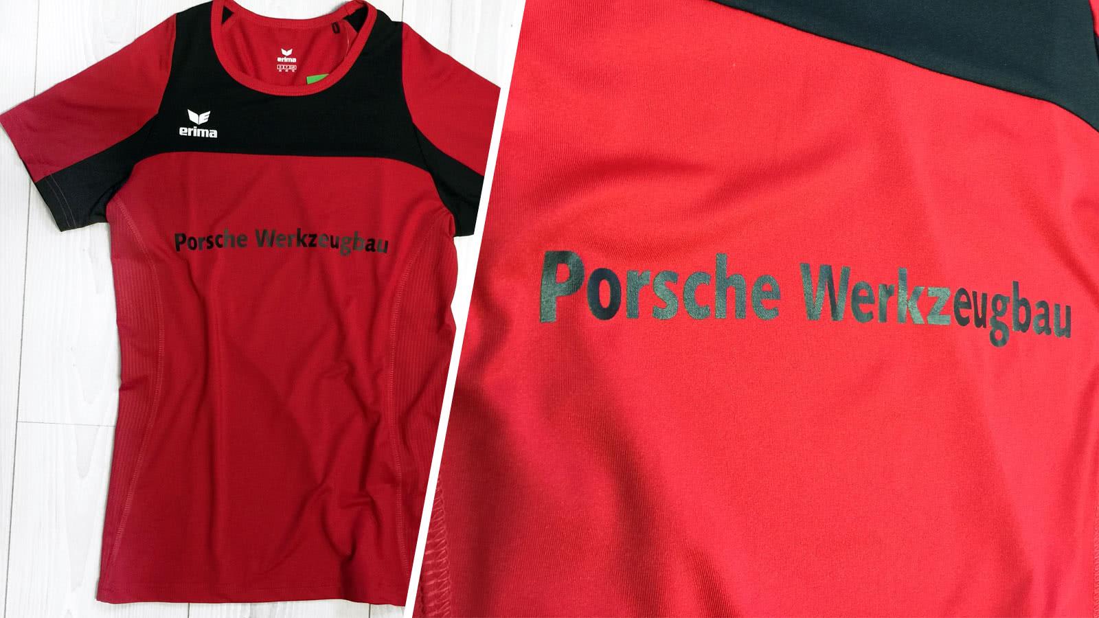 100% Qualität wie man serch Schnäppchen für Mode Laufshirt Bedruckung - Porsche Werkzeugbau - Sportartikel ...
