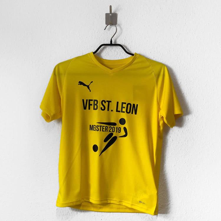 Die Meister T-Shirts mit Logo Druck in gelb