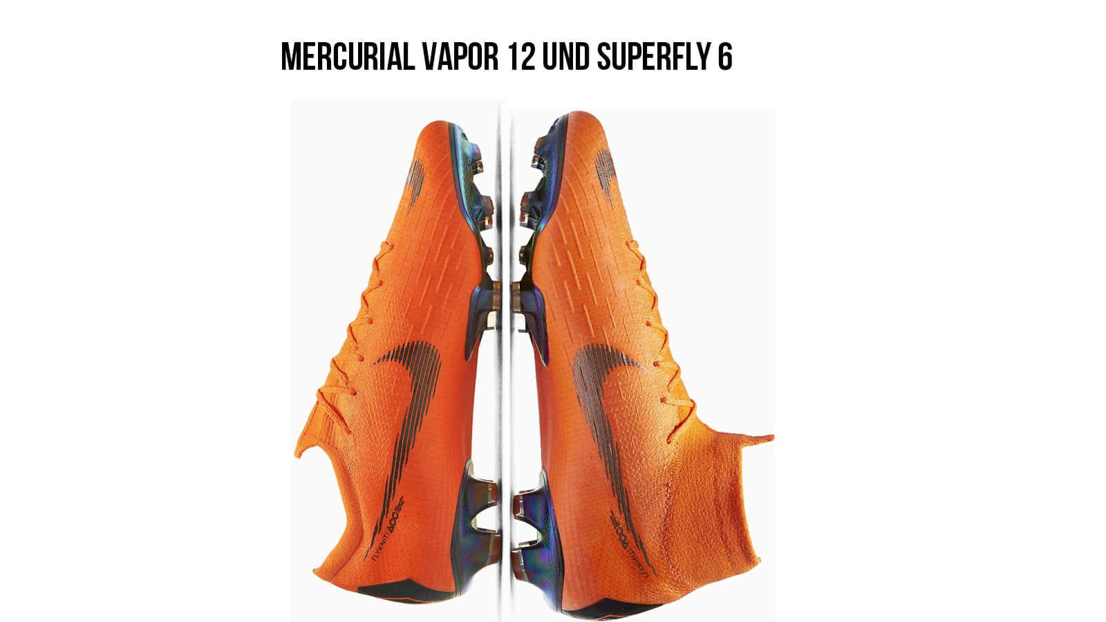 Die Nike-Mercurial-Vapor 360 und-Superfly 360 Fuß