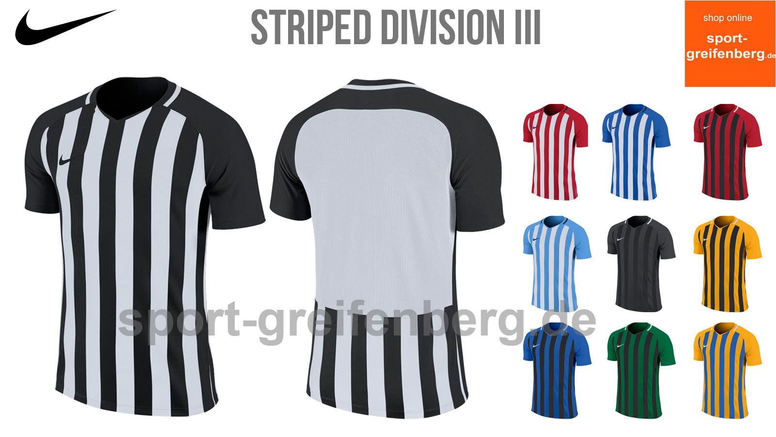 nike striped division ii langarm schwarz rot