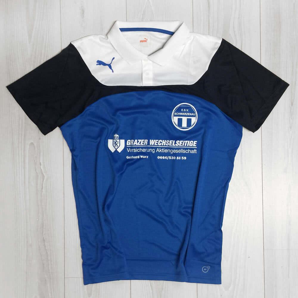 1fe9e022dd9a Poloshirt Druck mit Vereinslogo und Werbung (ESV Schwarzenau ...