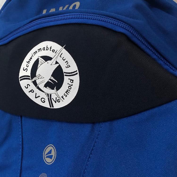 spezielle Logo Bedruckung für die Rücksäcke