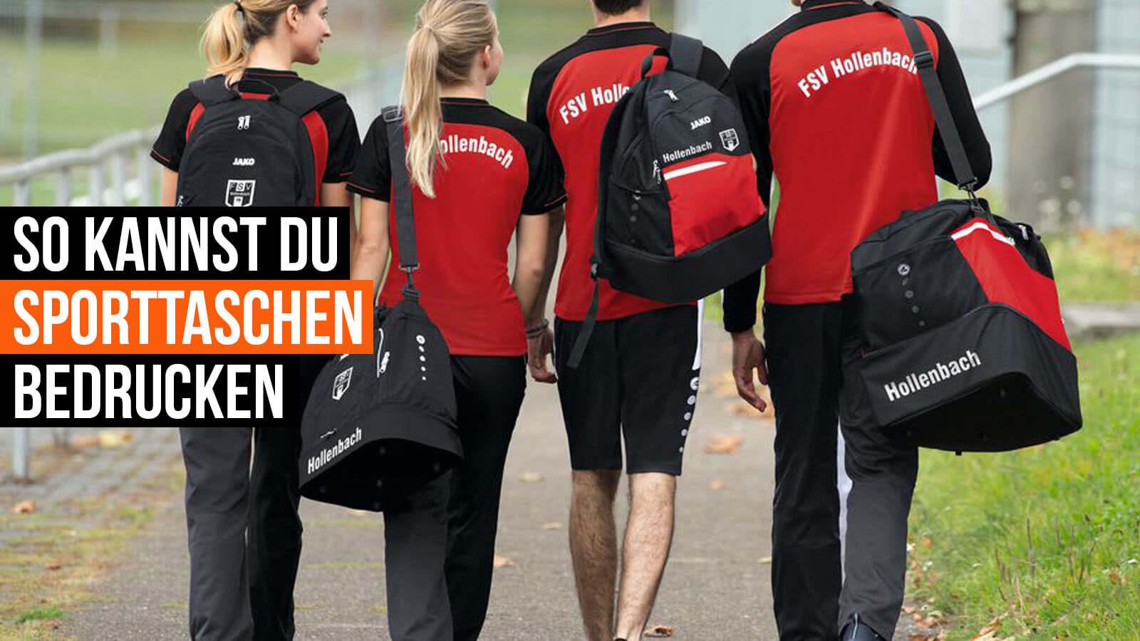 So kannst du Sporttaschen bedrucken lassen (Für alle Sportarten)