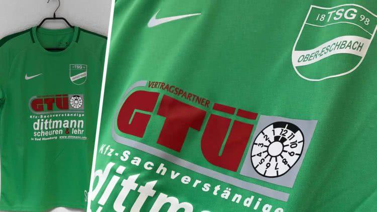 die Nike Trainings Jerseys mit Druck des TSG Ober-Eschbach