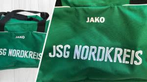 Taschen Bedruckung mit Vereinsnamen und Spielernamen