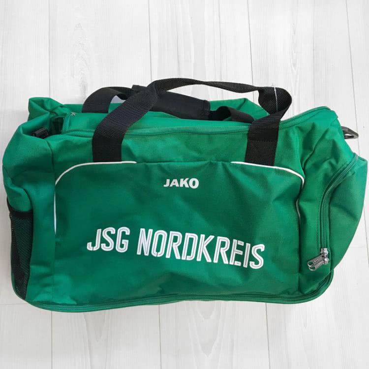 Die Vereinsnamen Bedruckung bei Jako Sporttaschen und Teambags