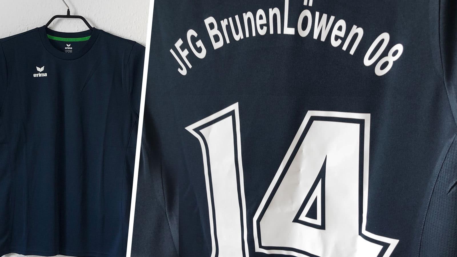Die Trikots des JFG BrunenLöwen 08