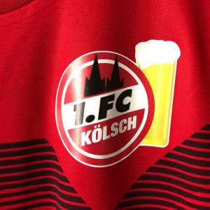Das Vereinslog des 1. FC Kölsch als Digitaldruck