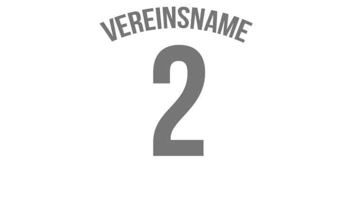 Trikot Druck mit Vereinsname und Nummer. Bei vielen Teams im Einsatz