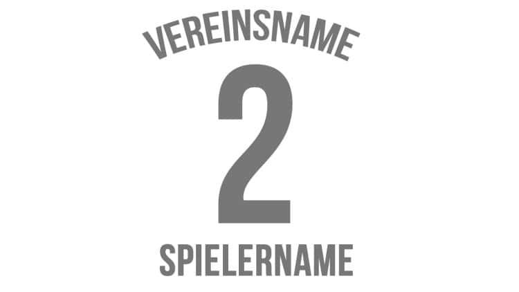Trikot Druck: Vereinsname + Nummer + Spielername wie bei den Profis