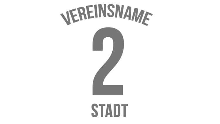 Vereinsname+Nummer+Stadt