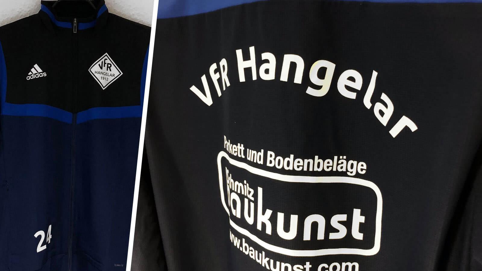 Bedruckung beim adidas Präsentationsjacke mit Vereinswappen - VfR Hangelar