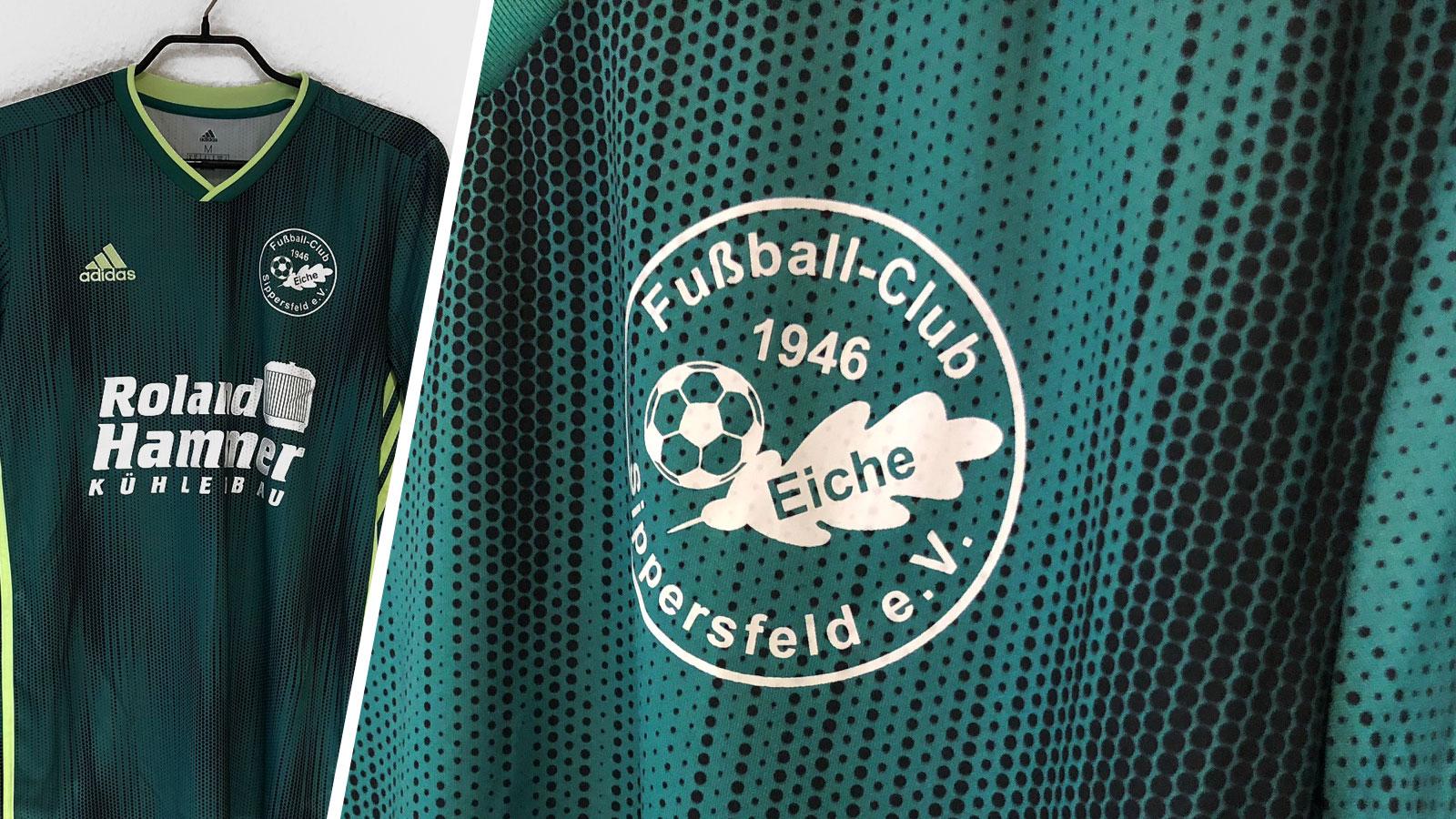 adidas Präsentationsjacke mit farbiger Werbung (TSV Lohe