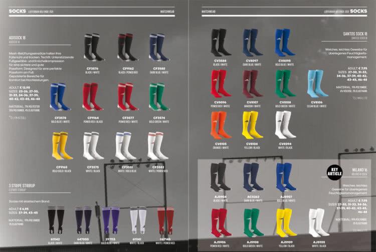 Neue Adidas Stutzen für Trikots und Trikotsätze (adisock 18