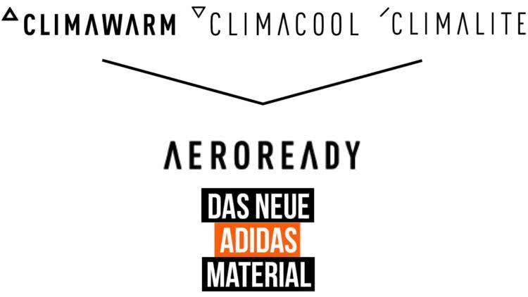 das adidas Aeroready Material für Trikots uvm