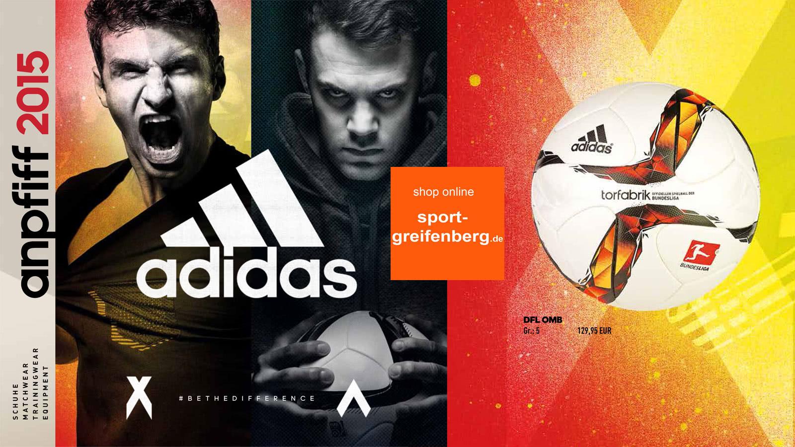 Adidas Anpfiff 2015 2016 Flyer Angebote Pdf Sportartikel Und