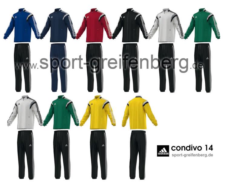 Der Adidas Condivo 14 Präsentationsanzug als eine der Trainingsanzüge